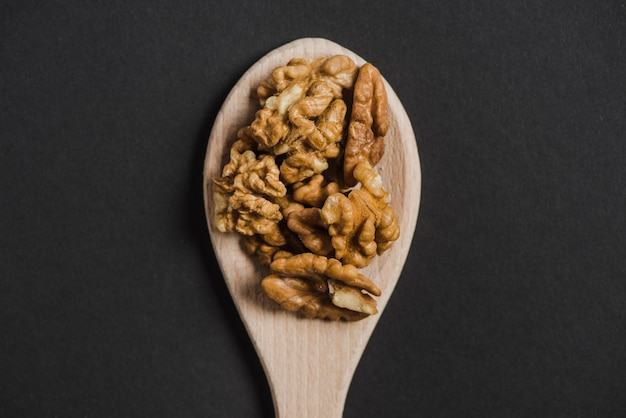 Spoon with walnuts