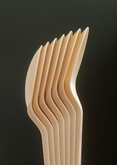 Spoons arrangement with dark background