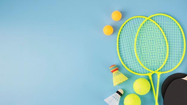 Sport assortment in minimal style