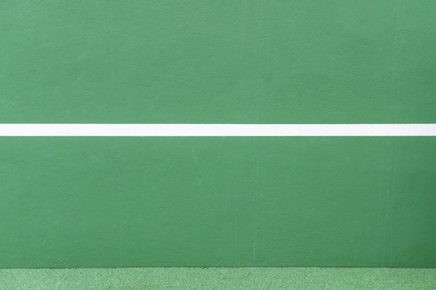 Sport background. green wall and white line