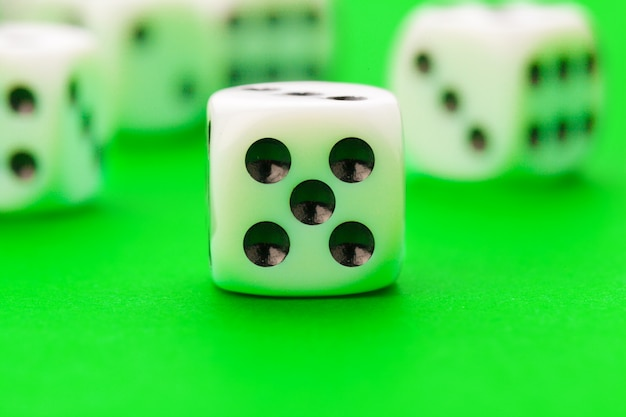 Sport dice on green