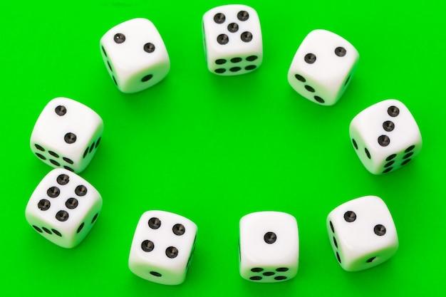 Sport dice on green