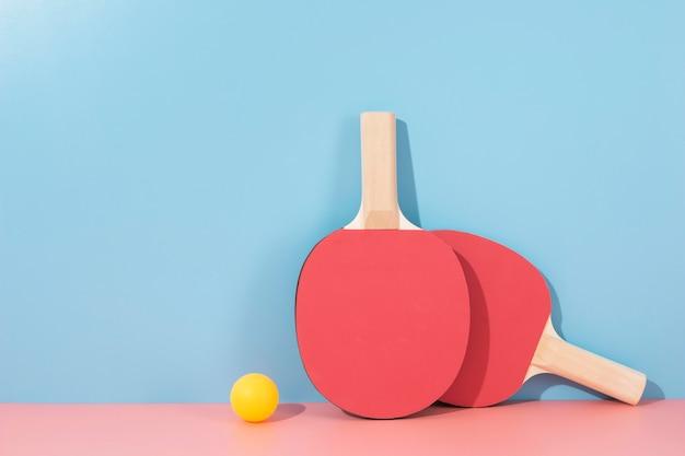 Disposizione degli elementi sportivi in stile minimal
