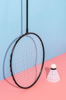 Sport elements arrangement in minimal style