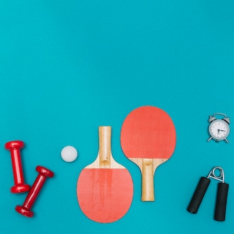 Sport equipment and set for table tennis