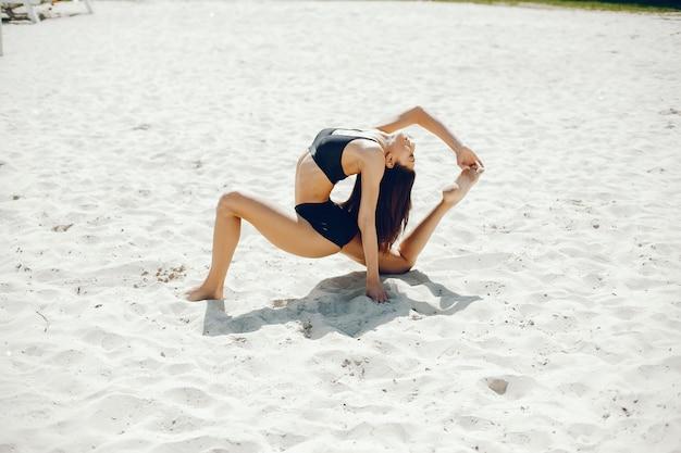 Sport girl on a beach