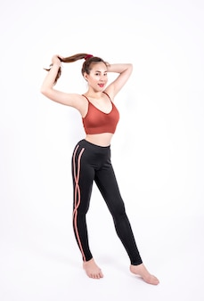 Sport girl in fashion sportswear
