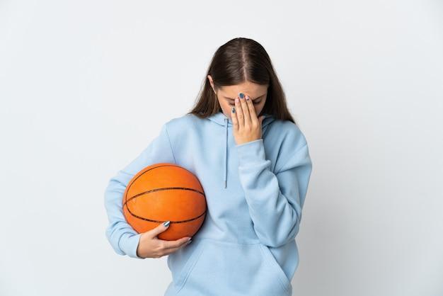 孤立した背景上のスポーツの女の子