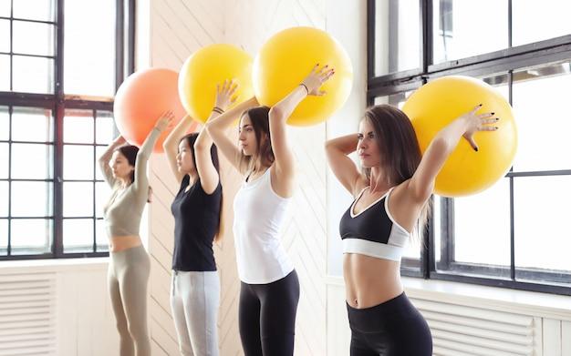 Sport indoor, fitness in the gym