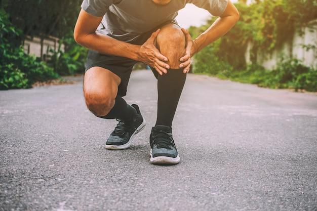 스포츠 러너 남자 무릎 통증 사진 디자인 배너를 실행할 수 없습니다