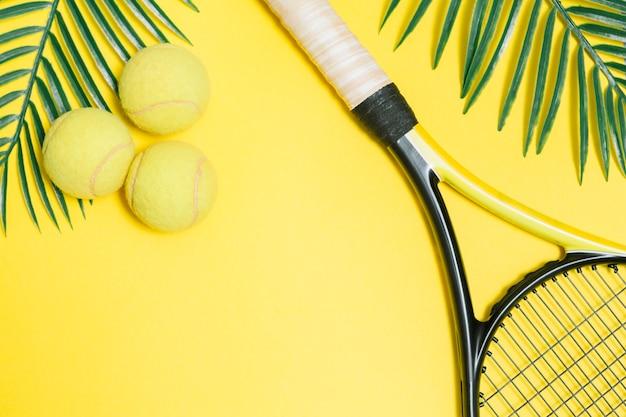 테니스를위한 스포츠 세트