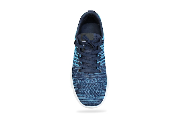 Sport shoes blue sneakers isolated on isolated white space with clippingpath.