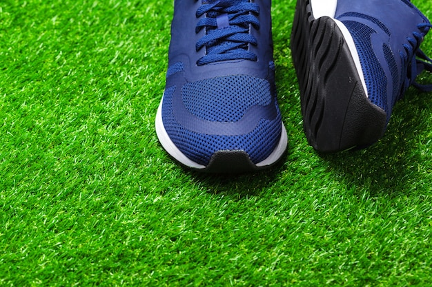 Sport shoes on grass
