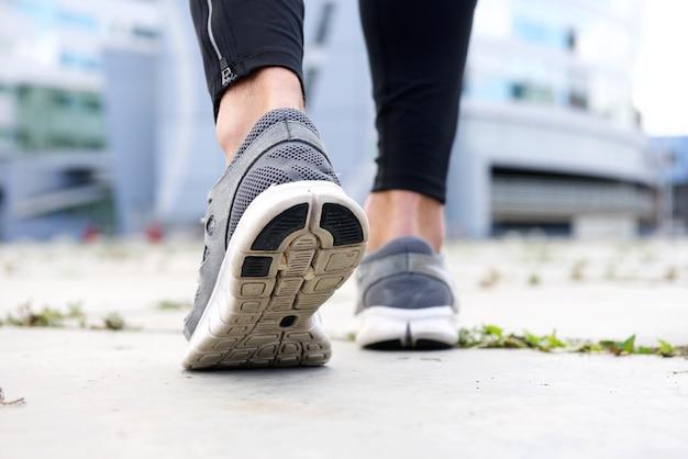 Sport shoes walking outside
