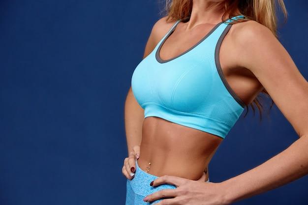 スポーツ。強くて美しい女性スポーツ体