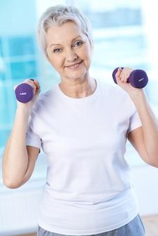 Sportive aged woman Free Photo