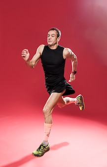 Sportive male running
