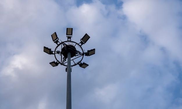Sportlight in blue sky