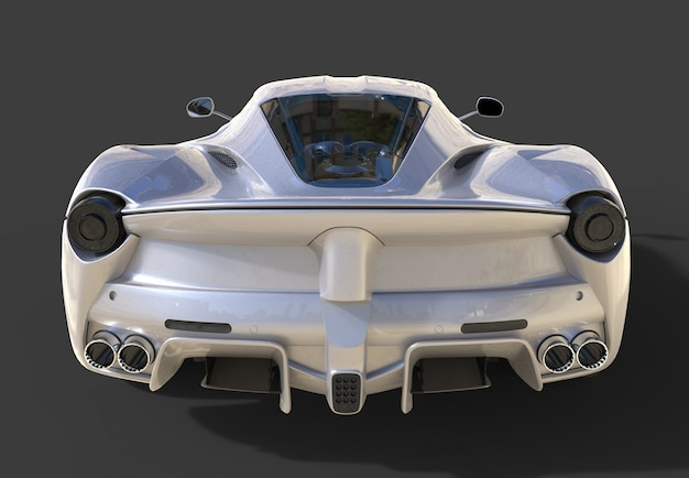 スポーツカーのリアビューブラックのスポーツグレーの車のイメージ