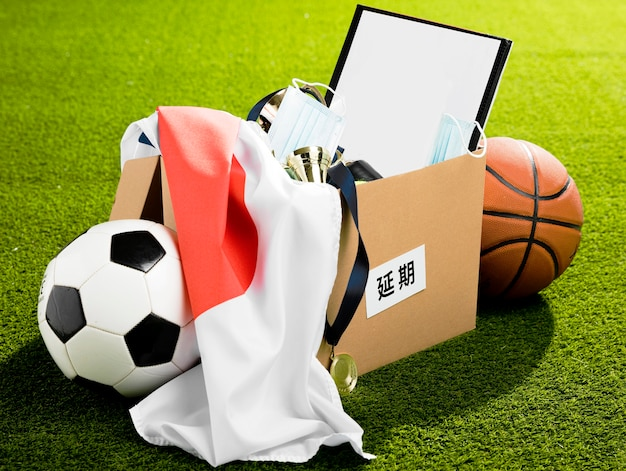 Sports event objects arrangement