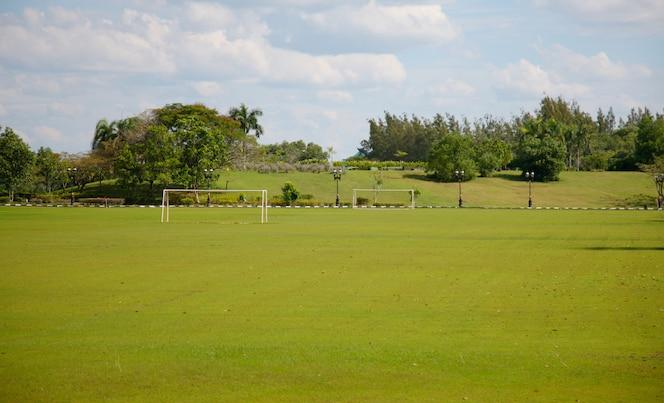 Sports field empty