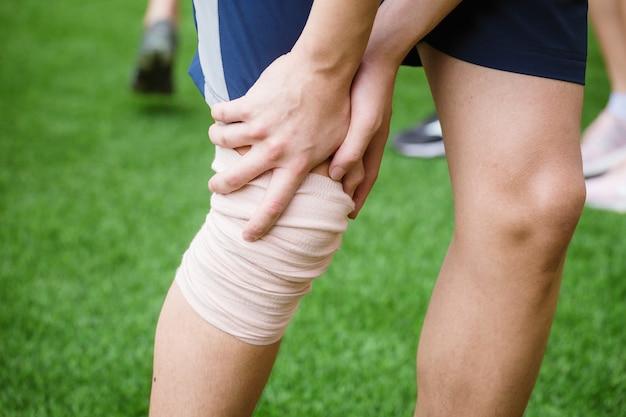 Sports injured leg