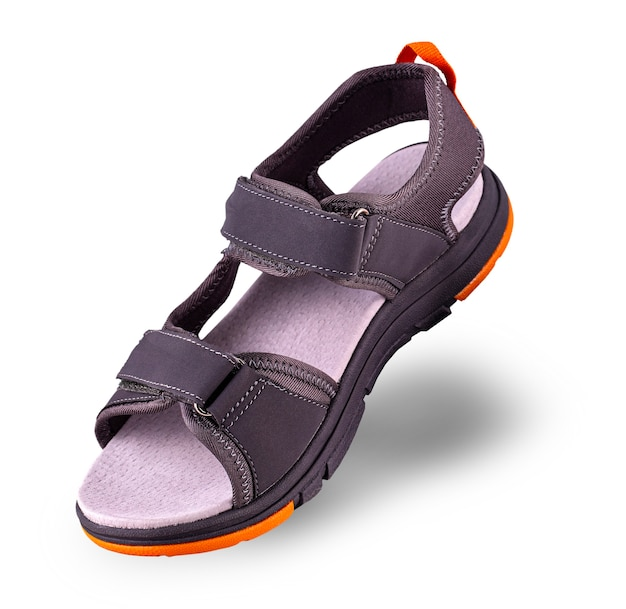 The sports summer sandals on white surface