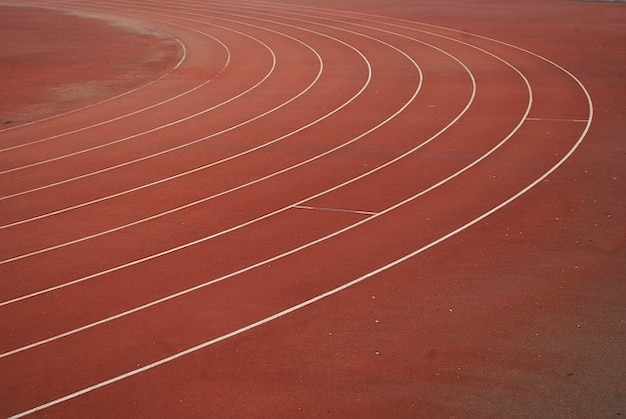 Sports track lanes runners competition field