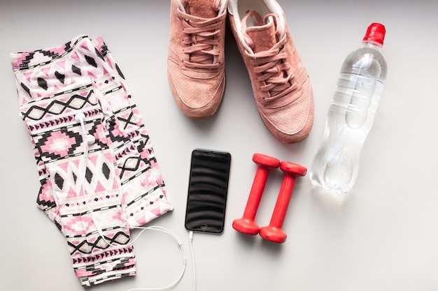 Sports workout clothing kit clothes Free Photo