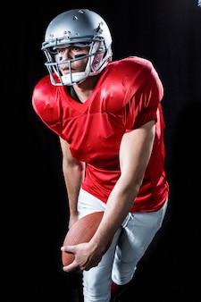 Sportsman playing american football