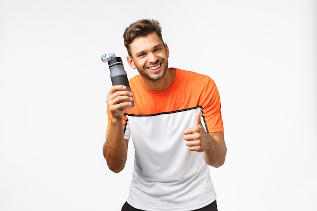 Sportsman recommend drink water workout, encourage lead active, healthy lifestyle