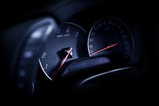 Sporty car dashboard
