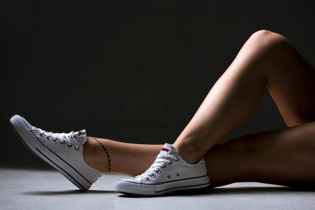 Sporty woman sexy legs