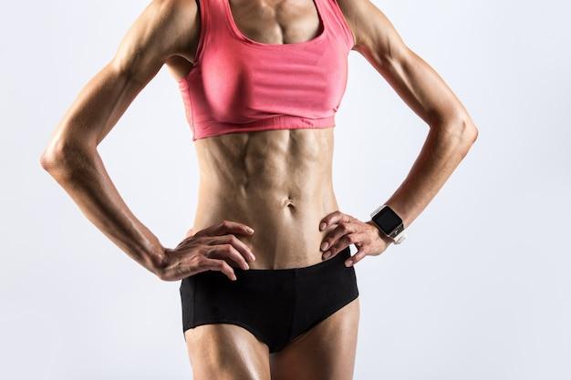 Sporty woman with beautiful body