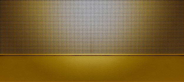 Точечная подсветка перфорированной металлической пластины gplden. металлический фон крупным планом