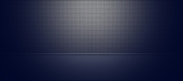 Точечная подсветка перфорированной металлической пластины крупным планом