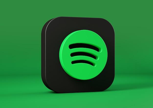 Spotifyアイコンが分離されました。 3dレンダリング