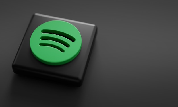 Spotify logo render закрыть. Premium Фотографии
