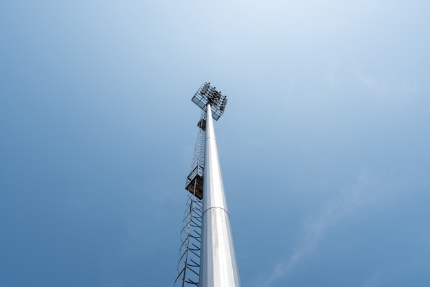 Spotlight equipment security tower illuminated