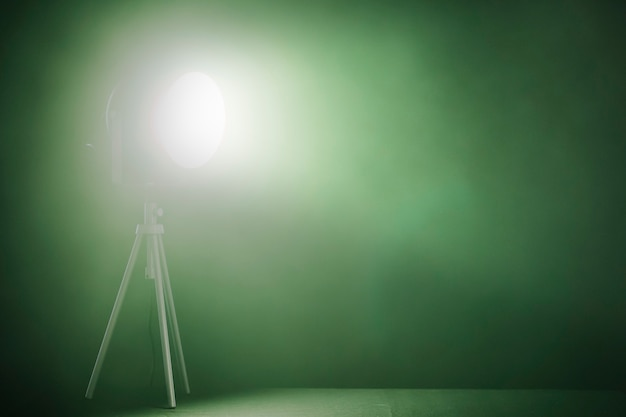 Spotlight with green lamp