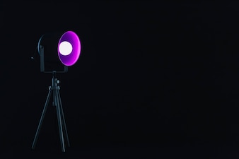 Spotlight with magenta bulb
