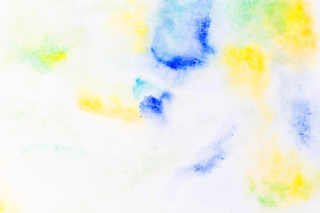Spots of blue and yellow paint