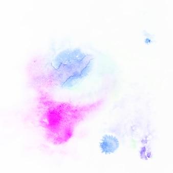 マゼンタの近くの青色塗料の斑点