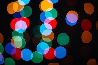 Spots of garland lights