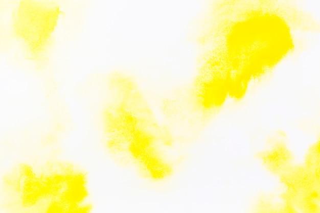 黄色い水彩の点 無料写真