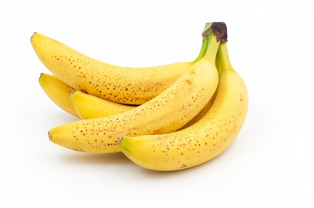 斑点のあるバナナ。熟したキャベンディッシュバナナ