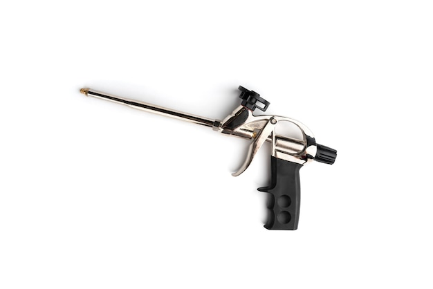Spray gun for mounting foam isolated.