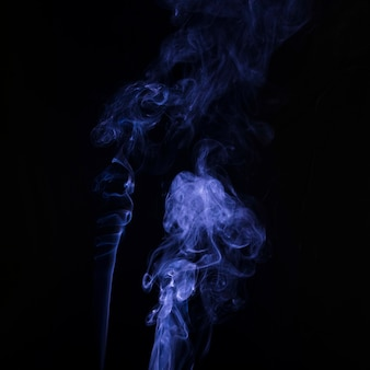 Spread soft focus of purple smoke on black background