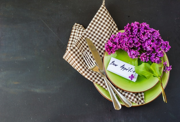 Spring concept with lilac flowers