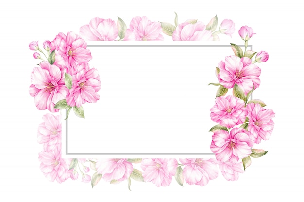 Spring frame background for wedding